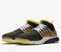 Nike Air Presto Flyknit Ultra - Black / Yellow Streak - Metallic Gold