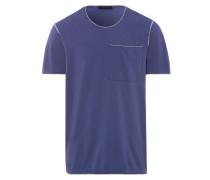Herren Polo Shirt Rundhals Lila Gr. S