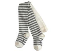 Stripe Baby Strumpfhose Weiß Gr. 62-68