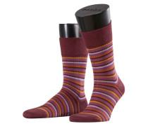 Sensitive Stripe Gros Herren Socken Rot Gr. 39-42