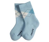 Argyle Baby Socken Blau Gr. 74-80