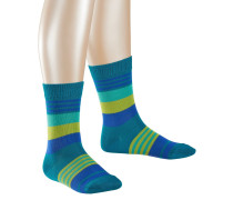 Irregular Stripe Kinder Socken, Blau