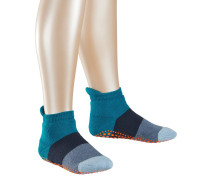 Colour Block Kinder Stoppersocken, Blau