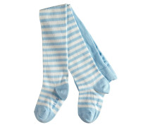 Stripe Baby Strumpfhose Blau Gr. 62-68