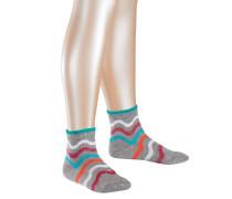 Wave Stripe Kinder Socken Grau Gr. 23-26