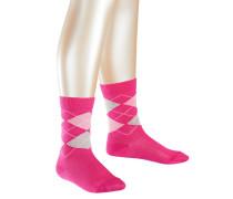 Classic Argyle Kinder Socken Pink Gr. 19-22