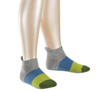Colour Block Kinder Stoppersocken, Grau