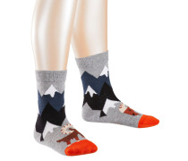 Fighting Goats Kinder Socken, Grau