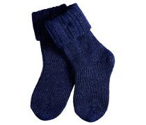 Flausch Baby Socken Blau Gr. 62-68