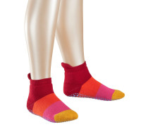 Colour Block Kinder Stoppersocken Rot Gr. 19-22