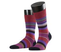Multistripe Herren Socken Rot Gr. 39-42