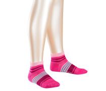 Irregular Stripe Kinder Sneakersocken Pink Gr. 19-22