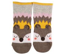 Sleepy Hedgehog Baby Socken Grau Gr. 74-80