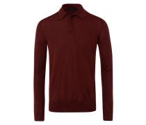 Herren Pullover Polo Rot Gr. 54