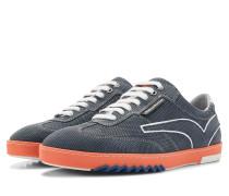 Blauer Herren Leder Sneaker