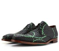 Herren Schnürschuhe Mit Schwarz Grünem Schlangen Aufdruck