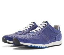 Blaue Herren Sneaker Mit Schlangenprint