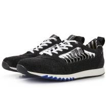 Schwarzer Glitzer-Damen-Sneaker