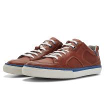 Cognacbrauner Herren Leder Sneaker