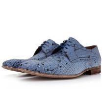Hellblaue Herren Schnürschuhe In Krokodildruck