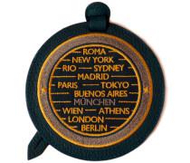 Gepäckanhänger CITIES · gelb/beige · personalisierbar