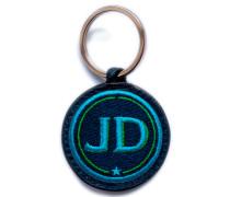 Schlüsselanhänger INITIALEN · türkis/grün