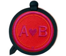 Gepäckanhänger LOVE · rot/pink