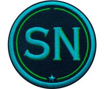 Label INITIALEN · 9cm · türkis/grün