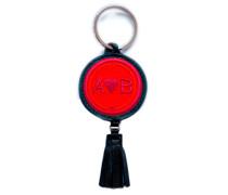 Schlüsselanhänger LOVE rot/pink mit Tassel