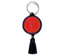 Schlüsselanhänger ABC rot/pink mit Tassel