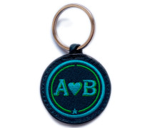 Schlüsselanhänger Love · türkis/grün