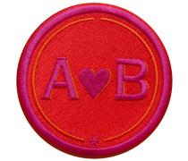 Label LOVE · 9cm · rot/pink