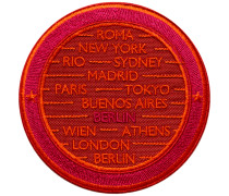 Label CITIES rot/pink personalisierbar