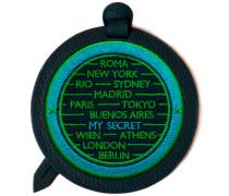 Gepäckanhänger CITIES · türkis/grün · personalisierbar