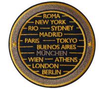 Label CITIES · gelb/beige · personalisierbar