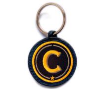 Schlüsselanhänger ABC gelb/beige