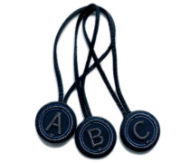 BAG TAG MINI ABC · anthrazit metallic/marine