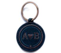Schlüsselanhänger Love · anthrazit metallic/marine