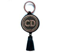 Schlüsselanhänger INITIALEN grau/metallic mit Tassel