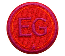 Label INITIALEN 4cm rot/pink personalisierbar
