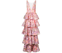 tiered floral gown - Rosa & Lila
