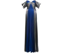 Abendkleid im Metallic-Look - Blau