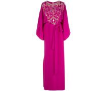 Verziertes Kleid aus Seide - Lila