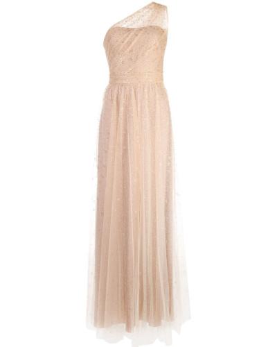 Langes One-Shoulder-Kleid - Gold