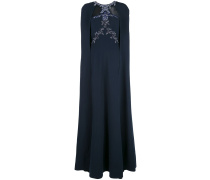 Besticktes Abendkleid - Blau
