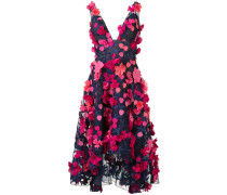 - Kleid mit floralen Applikationen - women