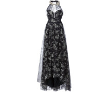 - Kleid mit Blumenstickereien - women - Nylon - 6
