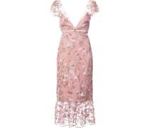 floral-embroidered midi dress - Rosa & Lila