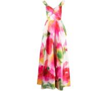 Schulterfreie Robe mit abstraktem Print - Mehrfarbig
