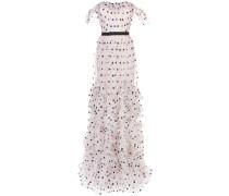Gepunktetes Kleid - Lila